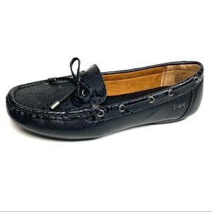 Boc By Born Loafers Black Embossed Leather Size 7M